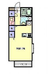 メルベイユ・エスパスA[2階]の間取り