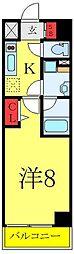 都営三田線 板橋区役所前駅 徒歩7分の賃貸マンション 4階1Kの間取り