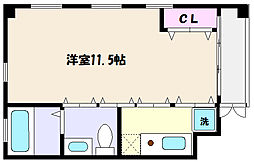E.E[4階]の間取り