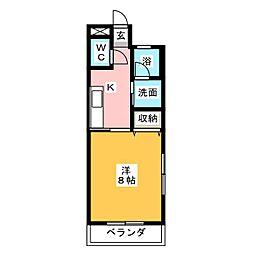 ライツェント稲川[3階]の間取り