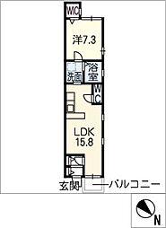 アビターレ中村日赤[3階]の間取り
