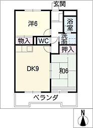 エスポワールI[3階]の間取り