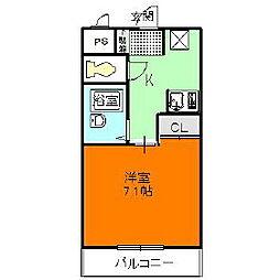 メゾンフェアリー[1階]の間取り