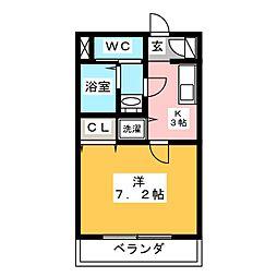 リベルテMI[2階]の間取り
