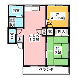 レトア中村A[2階]の間取り