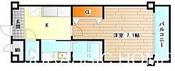 大阪府堺市堺区大浜北町2丁の賃貸マンションの間取り