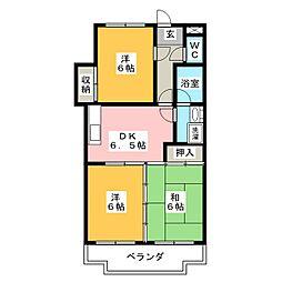 マンションW&Y[2階]の間取り