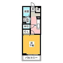 愛知県一宮市多加木1丁目の賃貸マンションの間取り