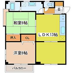 CITY HOUSE 松本[201号室]の間取り