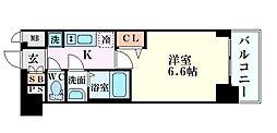 Osaka Metro千日前線 玉川駅 徒歩3分の賃貸マンション 6階1Kの間取り