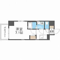 サムティ福島Rufle(ルフレ) 2階1Kの間取り