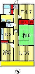 サンフラワー小松[4階]の間取り