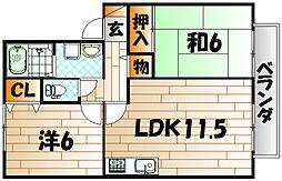 リベェール山崎[2階]の間取り