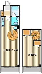 マイホクガーデン桜台 2階1LDKの間取り