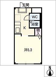サープラスK−II[1階]の間取り