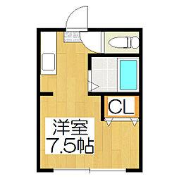 石田ビル[4階]の間取り