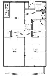 メゾン・ド・ピアII[4階]の間取り