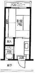 コーポ真弓[2階]の間取り