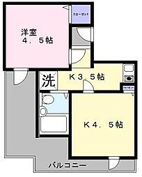 セントラル和泉 A棟[5階]の間取り
