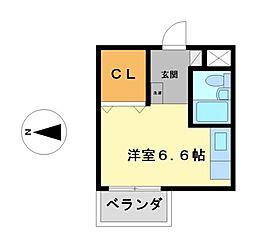 ベーカーST221B[3階]の間取り