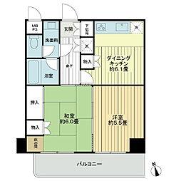 ライオンズマンション橋本町[5階]の間取り