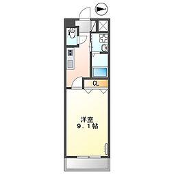 熊本電気鉄道 黒髪町駅 徒歩7分の賃貸アパート 1階1Kの間取り