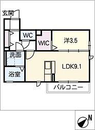 スクエアコート[1階]の間取り