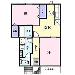 プリーマ ハウス[1階]の間取り