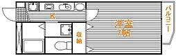 東京都葛飾区東水元2丁目の賃貸アパートの間取り