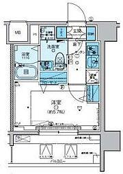 リヴシティ横濱新川町弐番館 4階1Kの間取り
