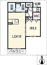 エクオール[2階]の間取り