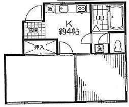 クローバーハイツ[2階]の間取り