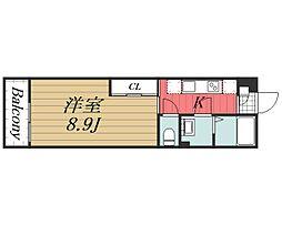 JR総武線 新検見川駅 徒歩4分の賃貸アパート 2階1Kの間取り