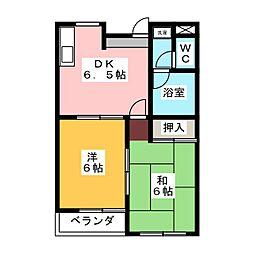 桜マンションⅠ B棟[2階]の間取り