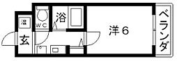 エスポワール昭和町[6階]の間取り