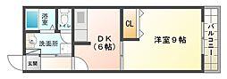 大阪府大阪市平野区加美北3丁目の賃貸アパートの間取り