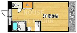 East Wing[206号室号室]の間取り