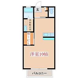 シティービュー野口A棟[1階]の間取り