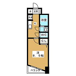 シャトーボヌール[2階]の間取り