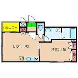 西区九条1丁目マンション計画[402号室]の間取り