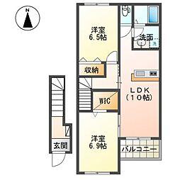 (仮称)茂原市東郷新築アパート[202号室]の間取り