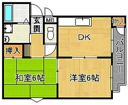 MORIマンション[2階]の間取り