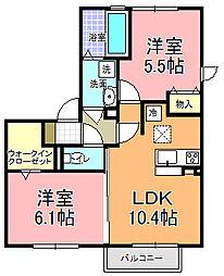 仮)D−room寄井 O[101号室]の間取り