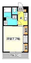 東京都小金井市緑町5丁目の賃貸アパートの間取り