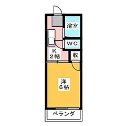 ハイツアイカ松本[1階]の間取り