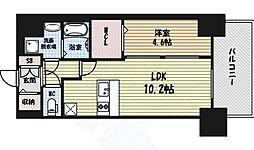 プレサンス錦通THE葵 2階1LDKの間取り