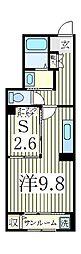 ベル ソレイユ[1階]の間取り