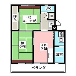 ビレッジハウス長島第ニ1号棟[3階]の間取り