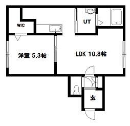 グランメール北元町[402号室]の間取り