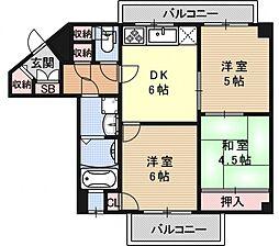 ライオンズマンション京都岡崎第2[401号室号室]の間取り